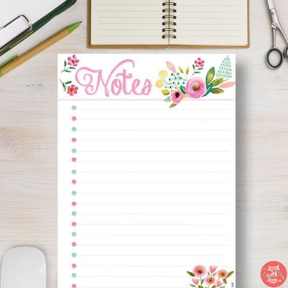 Flower Printable Planner.  Have Fun Planning with by StickWithSam