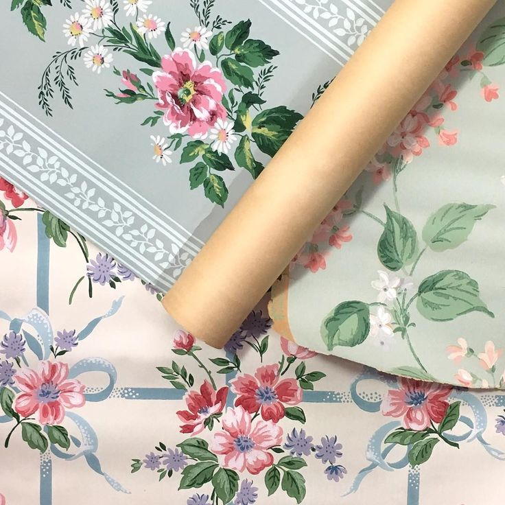 Vintage wallpaper bandboxes and paper boxes 2510 always a happy day when we find more pretty florals they look so pretty voltagebd Gallery