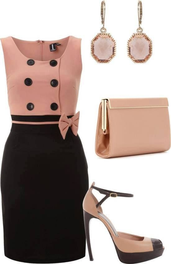 Classic dress with bow ...