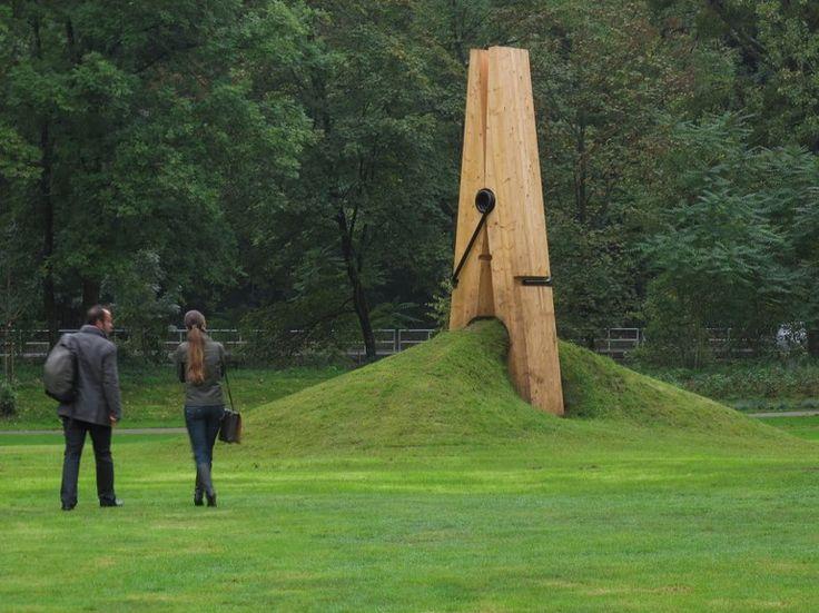 Giant Clothes Pin Sculpture in Belgium; by Turkish Artist Mehmet Ali Uysal