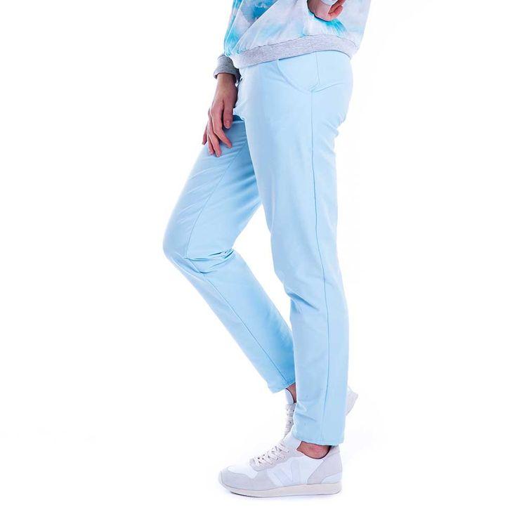 Carrousel Clothing sur Dressing Responsable : pantalon Baby Blue bleu pastel made in France