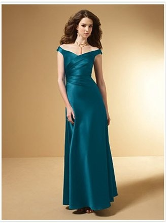 dark teal bridesmaid dress