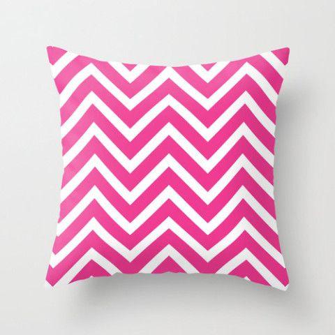 Velveteen Fuchsia Chevron Pillow - Valentine's Day  - Pink Throw Pillow - Housewares - Home Decor - Teen Room Decor - Girls Bedroom