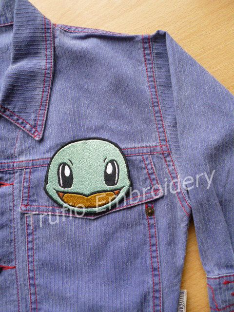 Squirtle iron-on patch/badge. by Trufio on Etsy