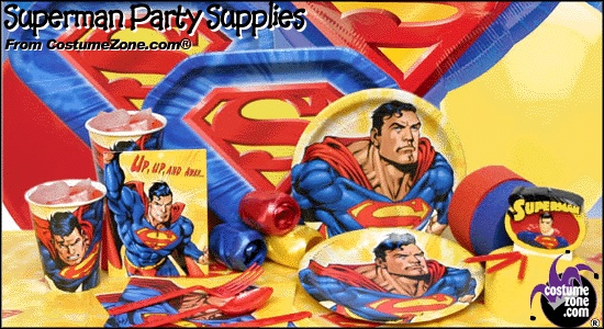Superman Party Supplies | Superman Party Plates, Superman Party Napkins, Superman Party Cups, Superman Party Decorations from CostumeZone.com®
