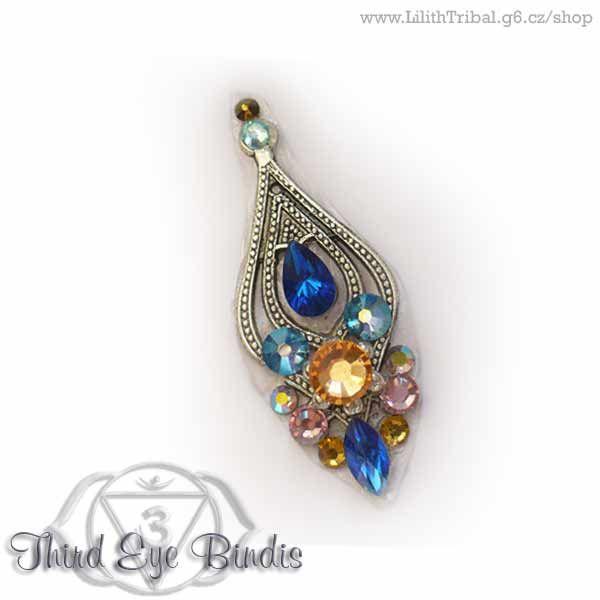 Cassiopeia – tribal bindi - blue