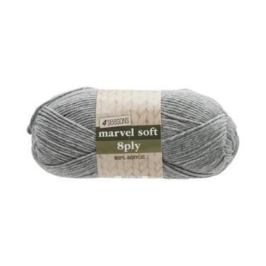 4 Seasons Marvel Soft 8 Ply Yarn Grey 100 g