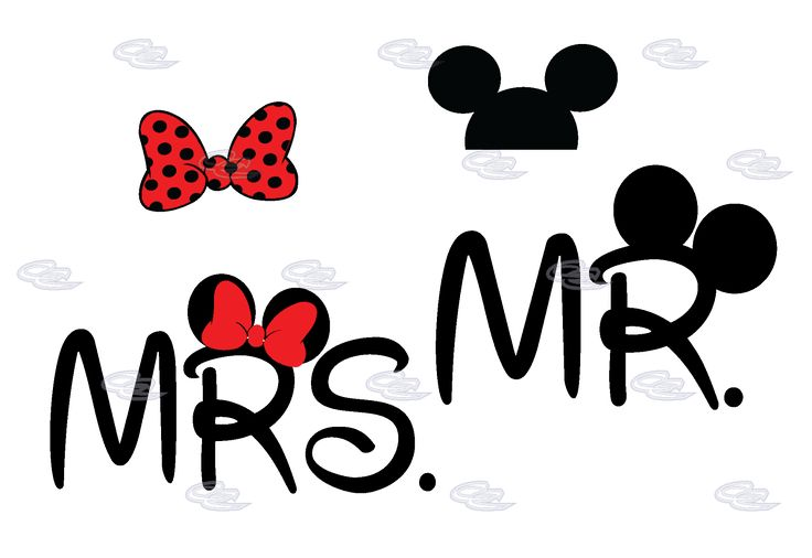 Mr Mrs Minnie Mouse Bow And Mickey Mouse Ears On Hood | Married ...