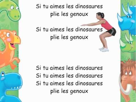 Si tu aimes les dinosaures -- Crazy but my kids would love this -- good for body parts!