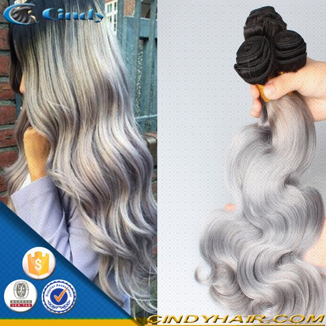 Source grade 7a raw unprocessed 100 human hair remy natural wave gray hair weave silver brazilian human hair extensions on m.alibaba.com