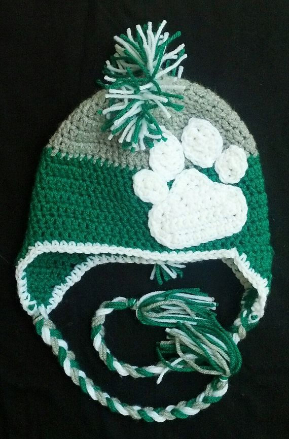 Ohio University Bobcats Mohawk Hat by CarolynLaymonArtist on Etsy, $20.00