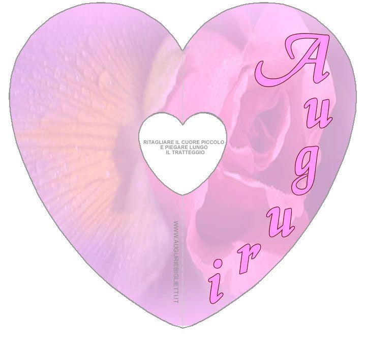 BIGLIETTO auguri per la mamma con cuore rosa