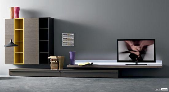 Meuble TV - Modulable - Suspendu - Italie - Magnifique Produit - sur-mesure - différentes couleurs - design - télévision - moderne