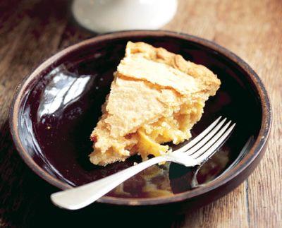 Shaker Lemon Pie made with Meyer Lemons and full butter crust.