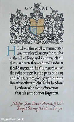 The Next of Kin Memorial Scroll