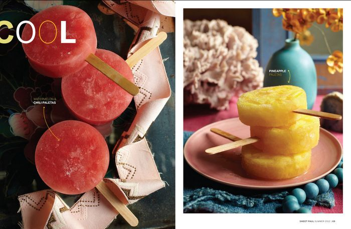 ... ! Mexican ice pops in watermelon & chili, and pineapple flavours