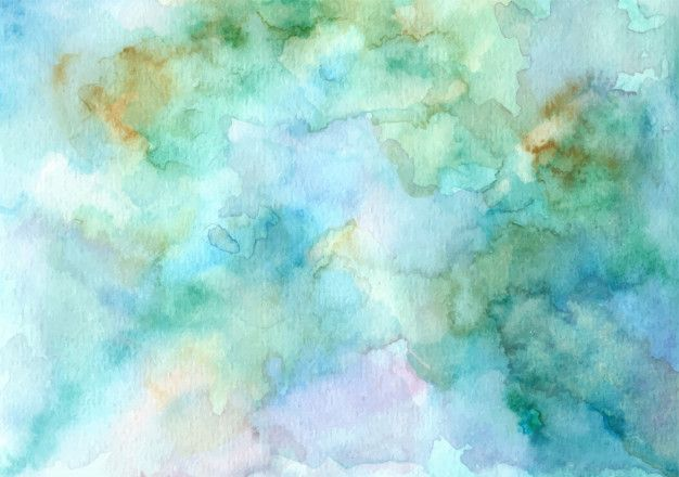 Green Abstract Watercolor Texture Background Watercolor Flower