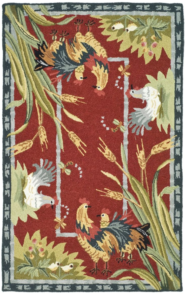 101 best rooster kitchen rugs images on pinterest rooster safavieh country red black rooster novelty rug