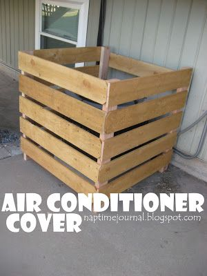 air conditioning covers. air conditioner cover. i like that this one has a board in the back to conditioning covers y