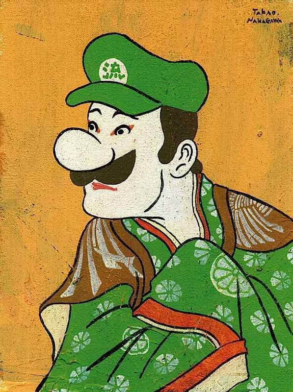 Luigi - Japanese Ukiyoe Character Series