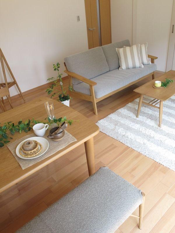 ナラ・オーク無垢材を使用した家具で統一した北欧風なナチュラルコーディネート事例をご紹介の画像 | 家具なび ~きっと家具から始まる家づくり~