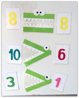 אומנות יצירה ואפרוחים: על תנינים ומספרים בכיתה א בשיעור חשבון למדנו גדול ...