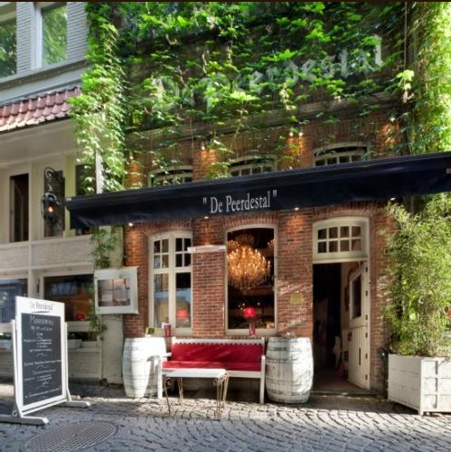 I want to take a trip to Antwerp just to eat at De Peerdestal --just 2 cute from the outside.