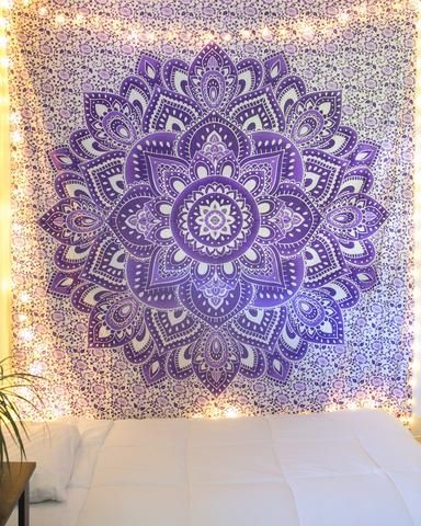 Morning Yoga Mandala Tapestry