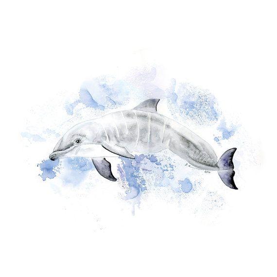Esta impresión de arte náutico es una copia de mi original pintura de delfín de un delfín bebé nadando en el océano. El arte de la vida de mar es perfecta es de género neutro y es perfecto como niño o niña al mar-arte o arte de vivero para un tema de la guardería náutica. CALIDAD: La impresión de arte delfín es impresa con las tintas de la más alta calidad y papel para la pared decoración dura muchos años. Imágenes de la lámina de delfines: ① Detalle de la pintura de delfines en estilo…