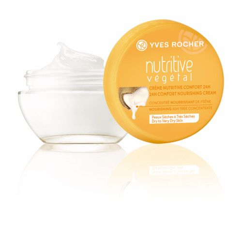 24H Comfort Nourishing Cream - Day  A luminous and visibly more beautiful skin! The 24H Comfort Nourishing Cream - Day, a non greasy formula that instantly nourishes the skin and reduces the sensations of discomfort and tightness. #yvesrocherbeauty #botanicalinnovation