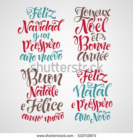 Best 25 merry christmas in portuguese ideas on pinterest jojo merry christmas and happy new year lettering set in different languages portuguese italian stopboris Image collections