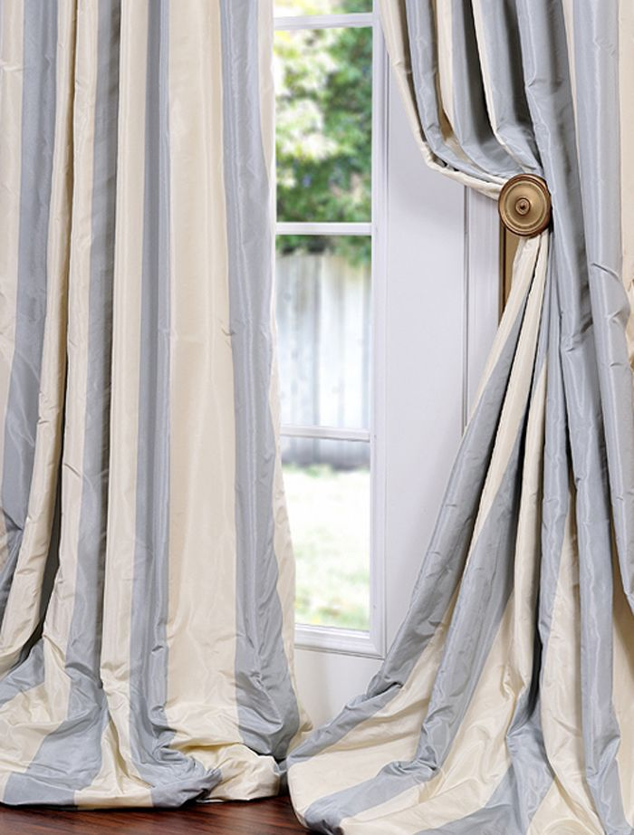 Hampton Faux Silk Taffeta Stripe Swatch
