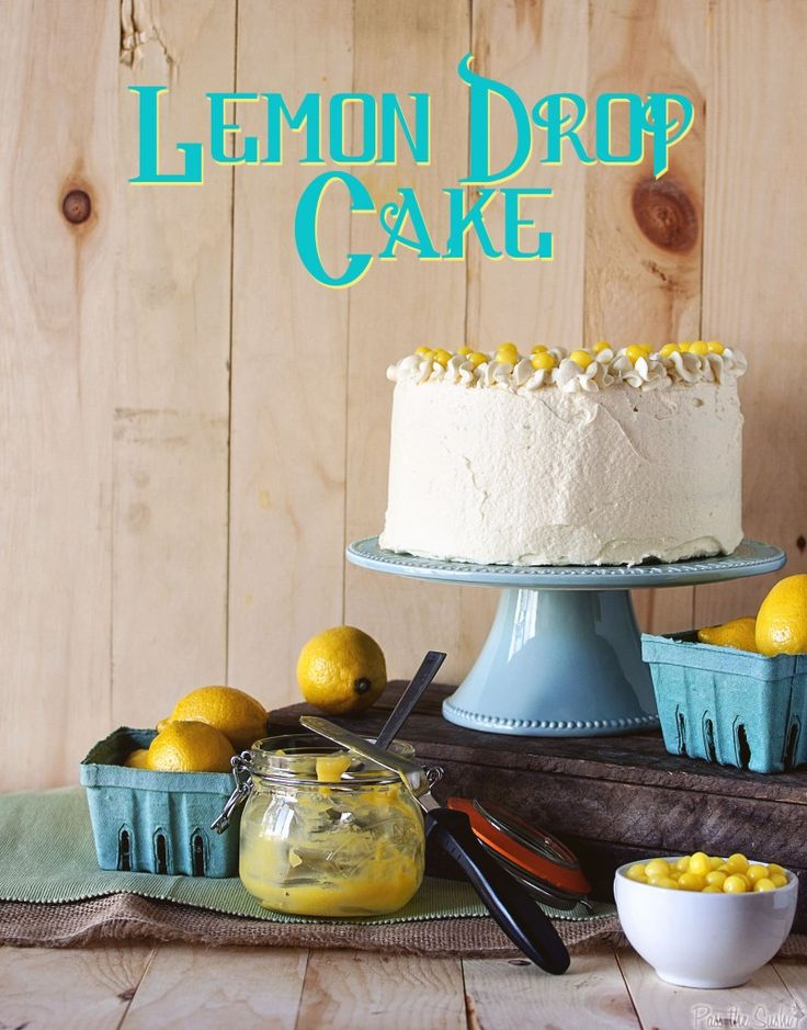 Lemon Drop Cake.: Lemon Drop Cakes 0155A, Desserts Idea, Frostings Foodgawk, Eating Cakes, Favorite Recipe, Buttercream Frostings, Food Recipe, Cakes Boss, Ice Teas Cupcake
