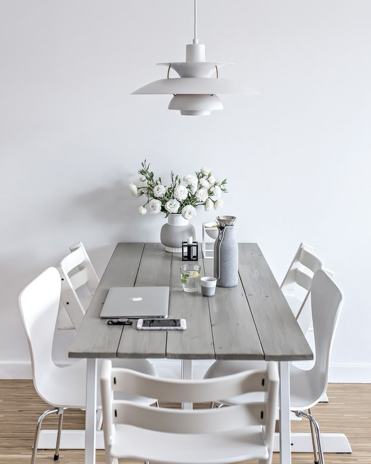 temporary dining space | www.my-full-house.com | Top Scandinavian Blog  DIY table | plank table