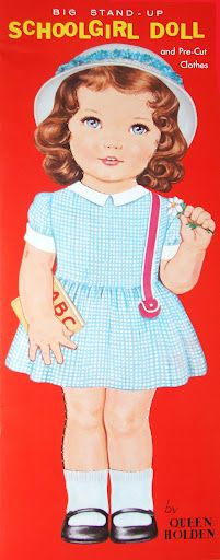 (⑅ ॣ•͈ᴗ•͈ ॣ)                                                            ✄Paper Dolls~Schoolgirl Doll - Bonnie Jones - Picasa Web Albums