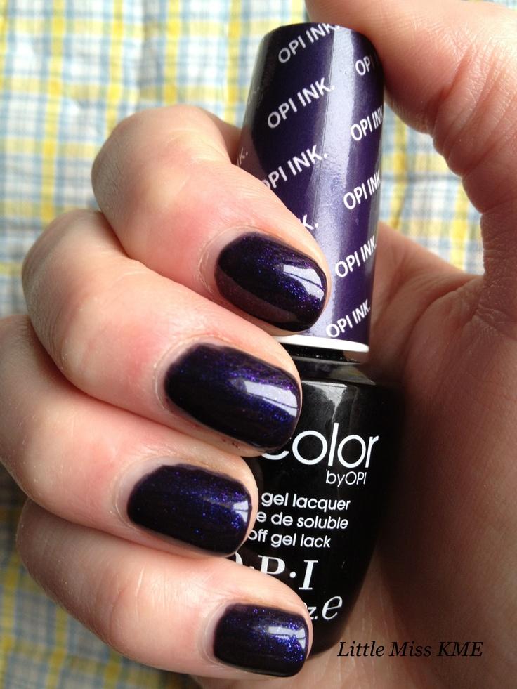 OPI Gel Color in 'OPI Ink'.... MY current color... love it!