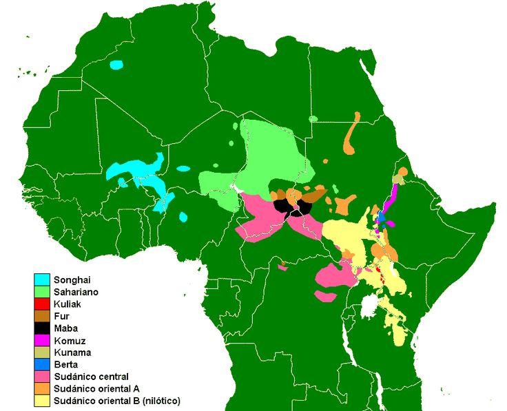 Nilo-Saharan languages distribution