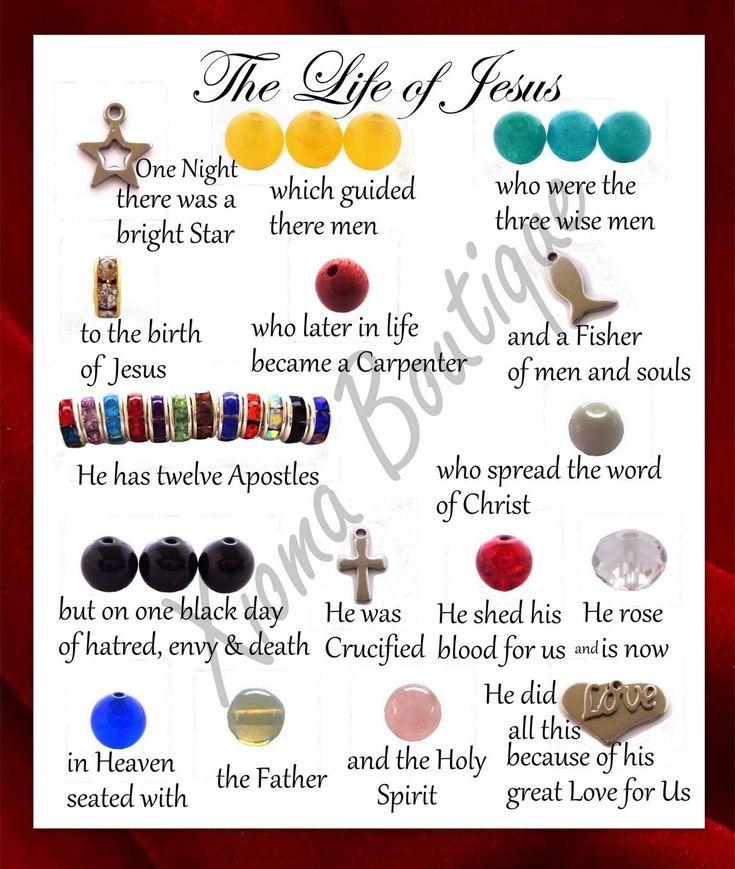 The Life of Jesus Story BRACELET with Note Card, Religious Bracelet, Handmade | eBay