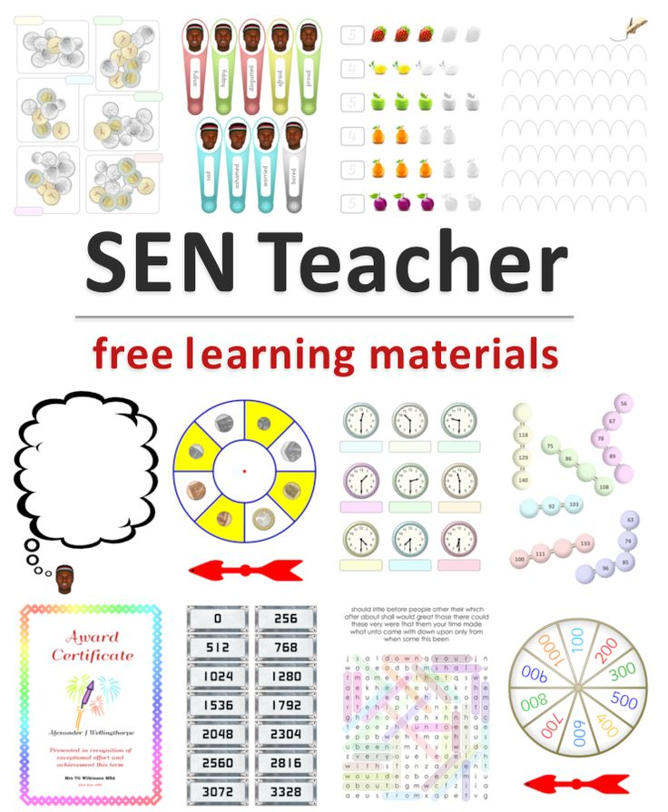 SEN Teacher has printables, specialist links, software downloads and search tools for all types and levels of special and remedial education.  (All FREE!). Pinned by: Lauren R.