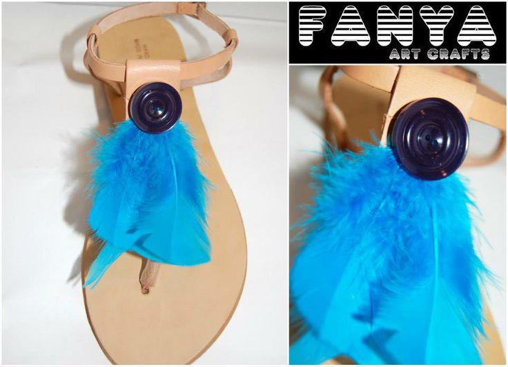 "handmade sandals ""boho blue""  #handmade #sandals #fanya"
