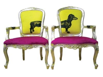 Quite a set!: Decor, Interior, Dogs, Dachshund Chairs, Dog Chairs, Furniture, Design, Jimmie Martin