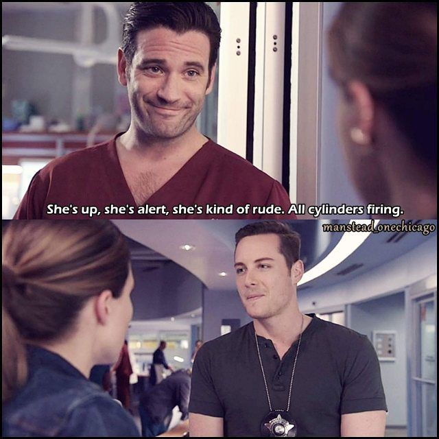 Connor: She's up, she's alert, she's kind of rude. All cylinders firing. (4x03)