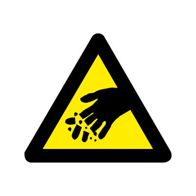 Fare for afskårende fingre - Køb Advarselsskilte nu