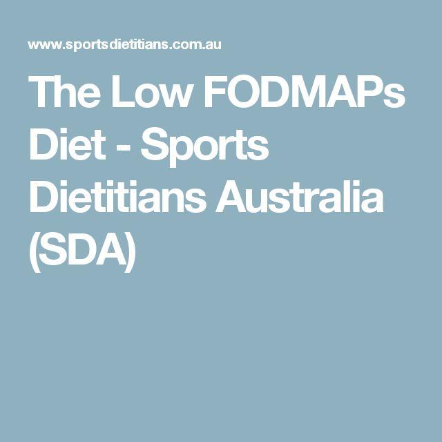The Low FODMAPs Diet - Sports Dietitians Australia (SDA)