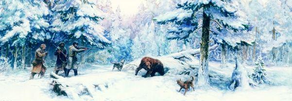 охота на медведя с лайкой
