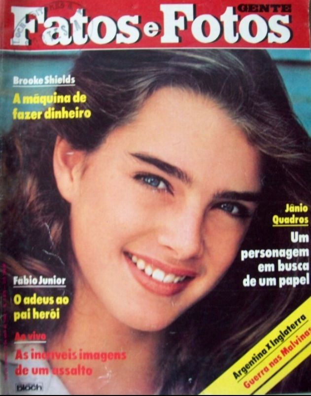 Brooke Shields covers Gente Fatos e Fotos (Brazil), 1981. Cover photo by Herb Ritts, Fall 1978.
