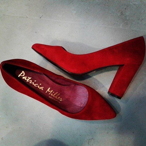 red leather highheels Patricia Miller exclusively in Papa k Froufrou