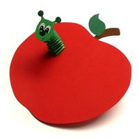 worm in an apple...cute for fall...