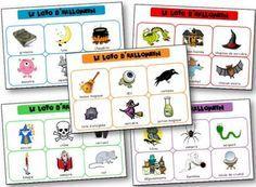 Loto d'Halloween à imprimer pour apprendre le lexique lié à la fête d'Halloween…