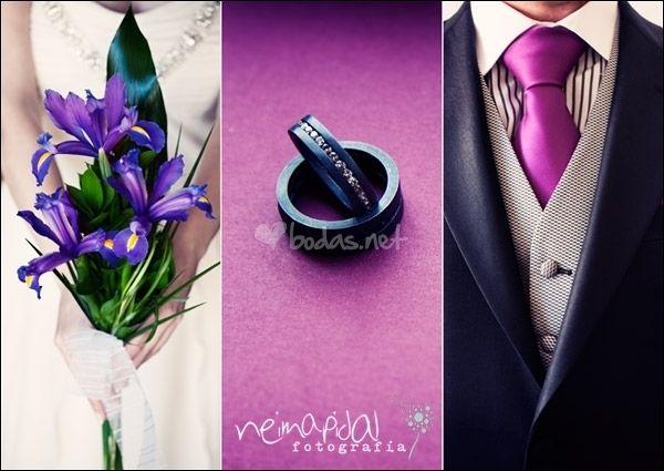 Ideas para una boda en morado